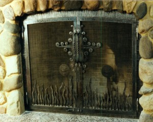 Flame & Cross fireplace